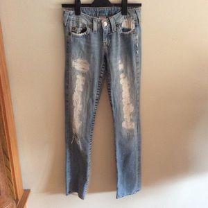 True Religion destroyed Johnny jeans